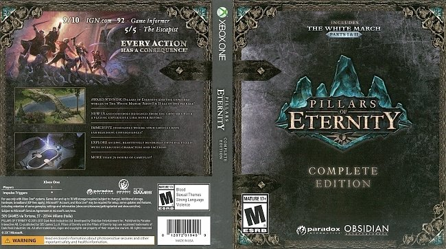 dvd cover Pillars of Eternity (2017) Xbox One Cover