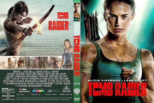 dvd cover Tomb Raider (2018) R1 CUSTOM DVD Cover & Label