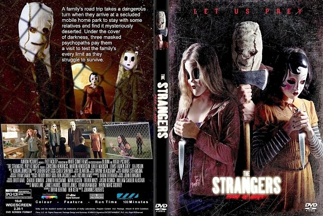 dvd cover The Strangers : Prey At Night (2018) R0 CUSTOM DVD Cover & Label