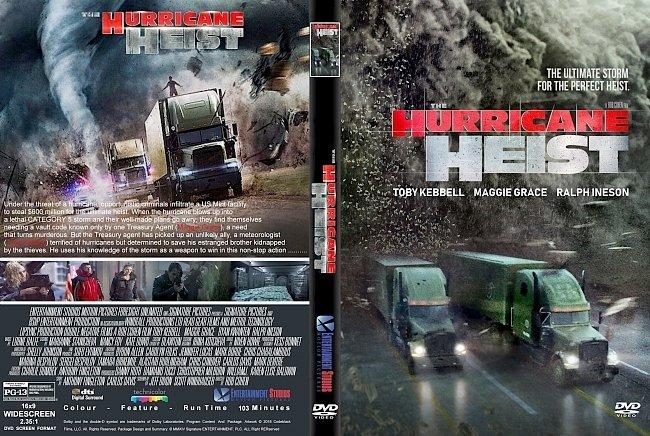 dvd cover The Hurricane Heist (2018) R1 CUSTOM DVD Cover & Label