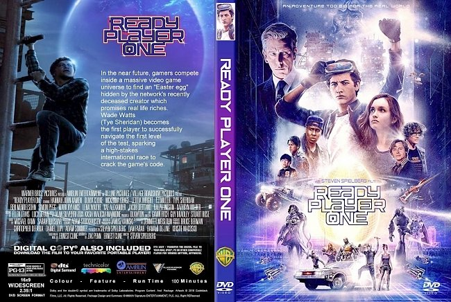 dvd cover Ready Player One (2018) R1 CUSTOM DVD Cover & Label