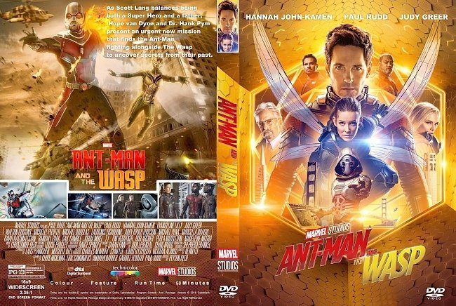 dvd cover Ant Man And The Wasp (2018) R1 CUSTOM DVD Cover & Label