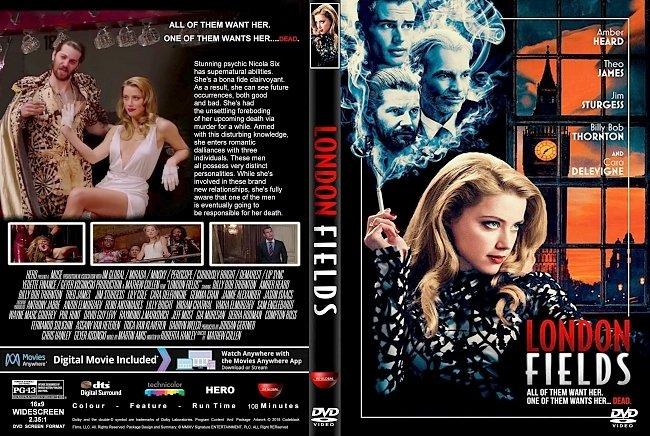 dvd cover London Fields (2018) R1 CUSTOM DVD Cover & Label