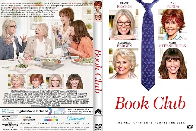 dvd cover Book Club (2018) R1 CUSTOM DVD Cover & Label