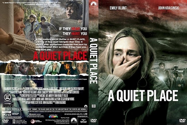 dvd cover A Quiet Place (2018) R1 Custom DVD Cover