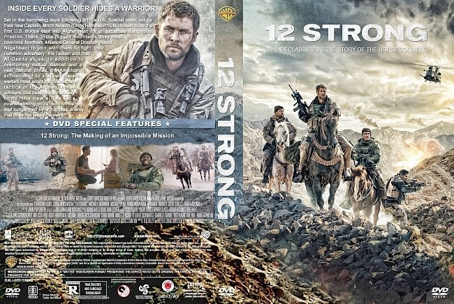 dvd cover 12 Strong (2018) R1 Custom DVD Cover & Label