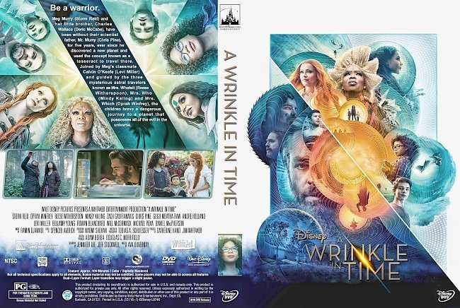dvd cover A Wrinkle in Time (2018) R1 Custom DVD Cover & Label