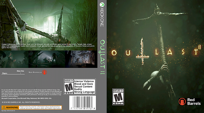 dvd cover Outlast 2 (2018) Xbox One Custom Cover