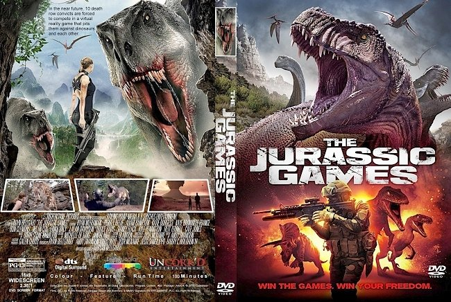 dvd cover The Jurassic Games (2018) R2 CUSTOM DVD Cover & Label