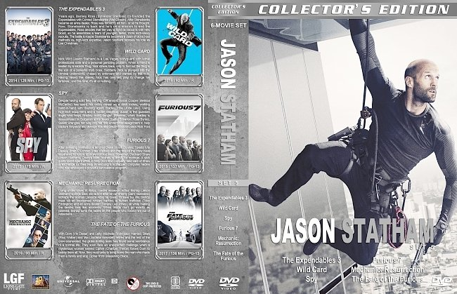 dvd cover Jason Statham – Set 5 (2014-2017) R1 Custom DVD Covers