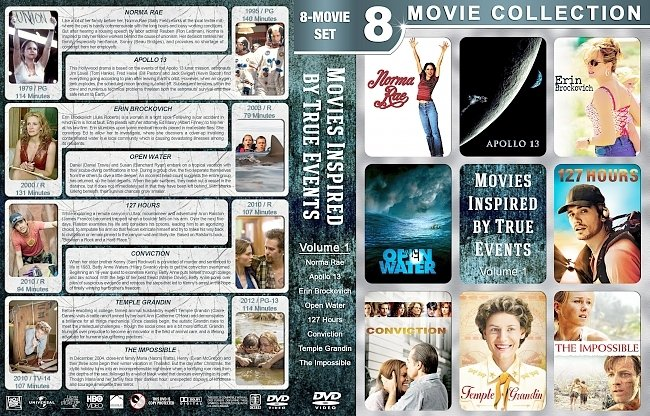 dvd cover Movies Inspired by True Events – Volume 1 (1979-2012) R1 Custom DVD Cover