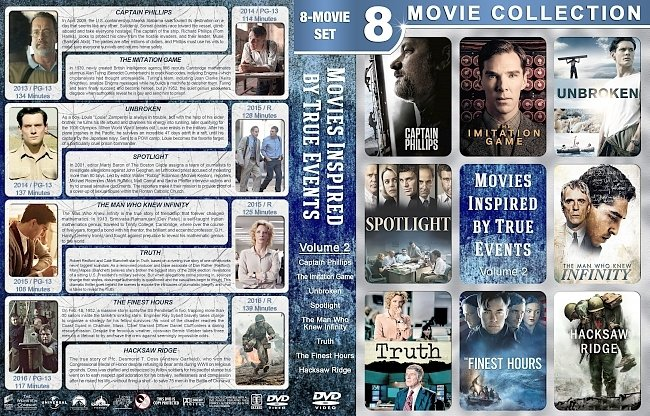dvd cover Movies Inspired by True Events – Volume 2 (2013-2016) R1 Custom DVD Cover