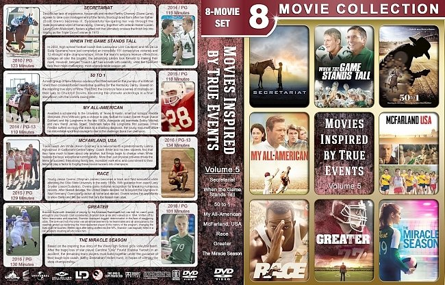 dvd cover Movies Inspired by True Events – Volume 5 (2010) R1 Custom DVD Cover