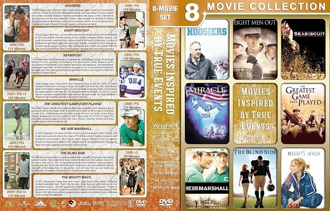 dvd cover Movies Inspired by True Events – Volume 4 (1986-2009) R1 Custom DVD Cover