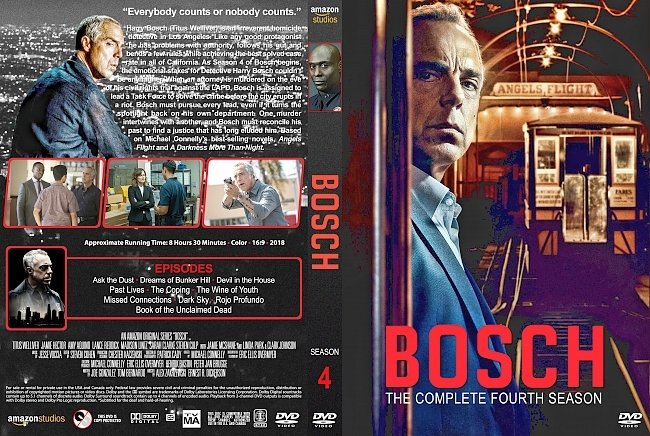 dvd cover Bosch – Season 4 (2018) R1 Custom DVD Cover & Labels