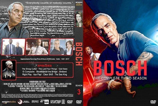 dvd cover Bosch – Season 3 (2017) R1 Custom DVD cover & labels