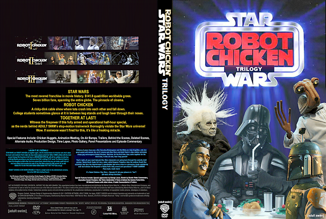 dvd cover Robot Chicken Star Wars Trilogy R1 DVD Custom Cover