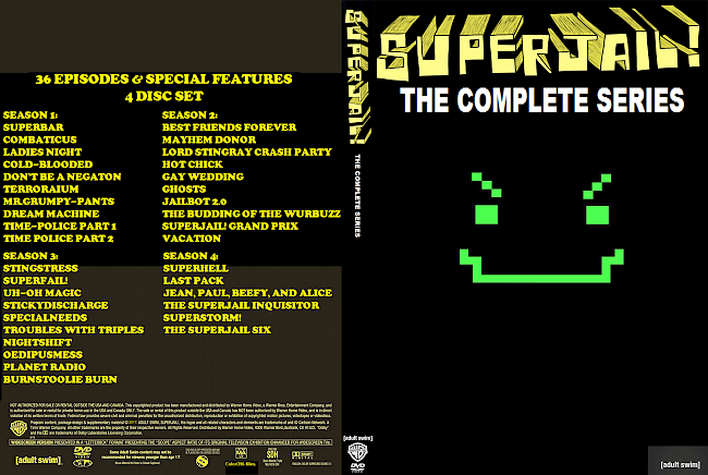 dvd cover Superjail: The Complete Series (Season 1-4) R1 Custom DVD Cover