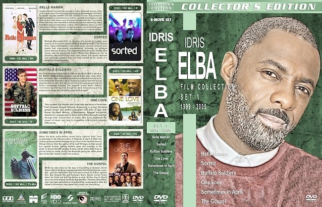 dvd cover Idris Elba Filmography – Set 1 (1999-2005) R1 Custom DVD Covers