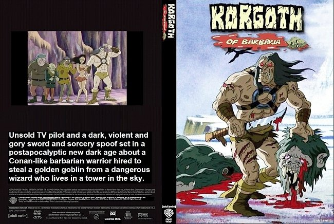 dvd cover Korgoth of Barbaria (2006) R1 Custom DVD Cover