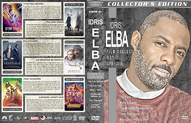 dvd cover Idris Elba Filmography – Set 7 (2016-2018) R1 Custom DVD Covers