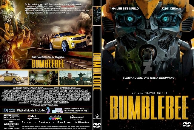 dvd cover Bumblebee (2018) R1 CUSTOM DVD Cover & Label