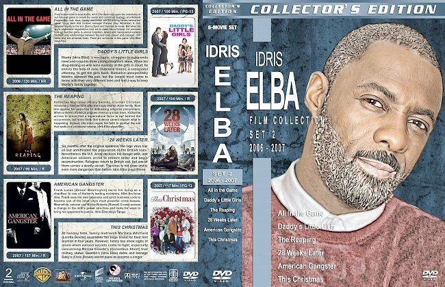 dvd cover Idris Elba Filmography – Set 2 (2006-2007) R1 Custom DVD Covers