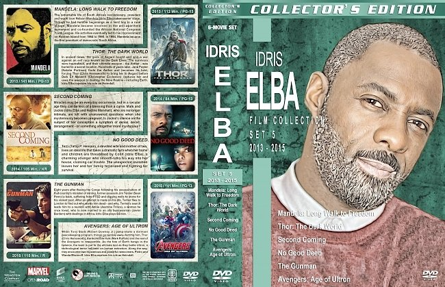 dvd cover Idris Elba Filmography – Set 5 (2013-2015) R1 Custom DVD Covers