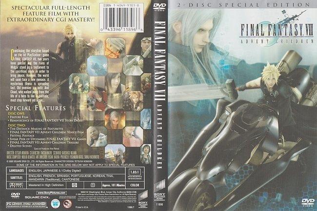dvd cover Final Fantasy VII Advent Children – 2 Disc Set (2005) R1 DVD