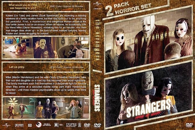 dvd cover The Strangers Double Feature (2008-2018) R1 Custom DVD Cover