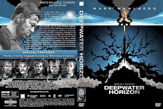 dvd cover Deepwater Horizon (2016) R1 Custom DVD Cover & Label