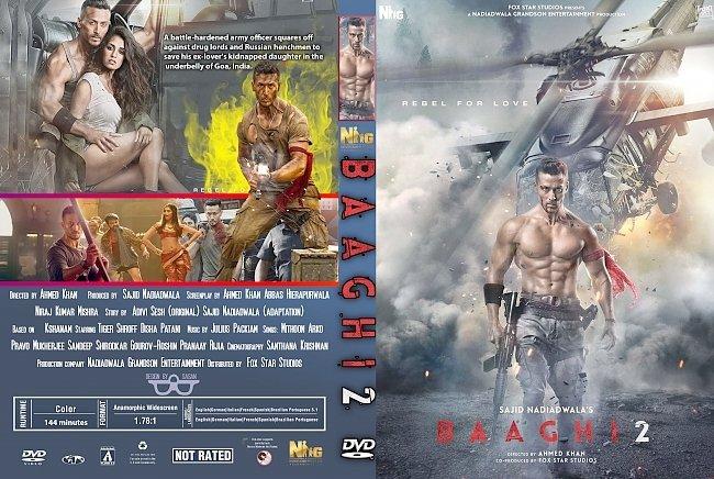 dvd cover Baaghi 2 (2018) R1 Custom DVD Cover