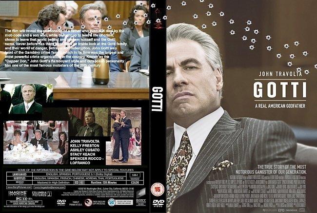 dvd cover Gotti (2018) R0 CUSTOM DVD Cover & Label