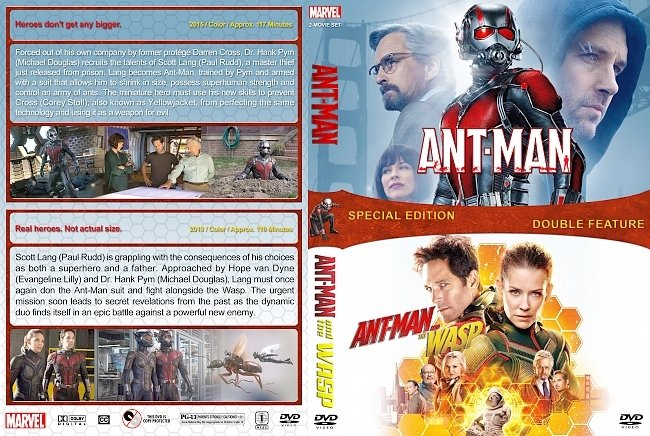 dvd cover Ant-Man Double Feature (2015-2018) R1 Custom DVD Cover