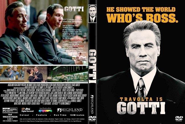 dvd cover Gotti (2018) R1 CUSTOM DVD Cover & Label