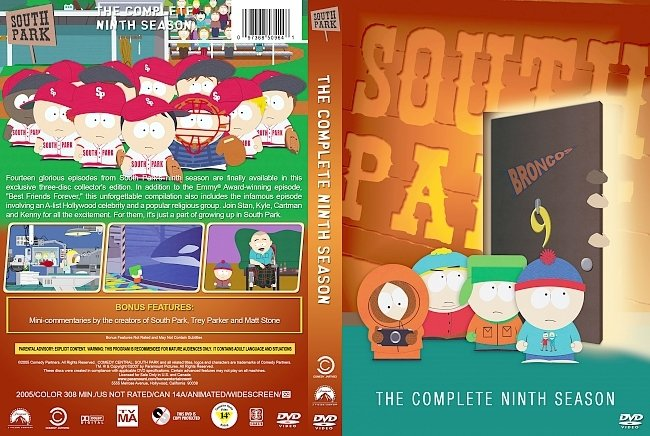 dvd cover South Park – Season 9 (2005) R1 Custom DVD Cover