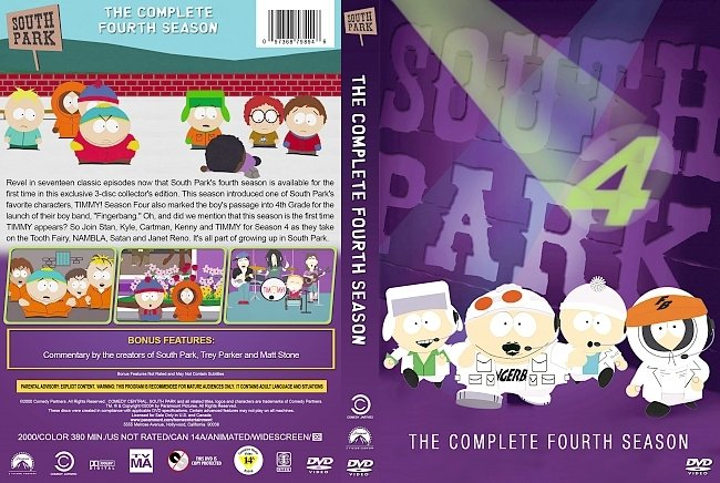 dvd cover South Park – Season 4 (2000) R1 Custom DVD Cover