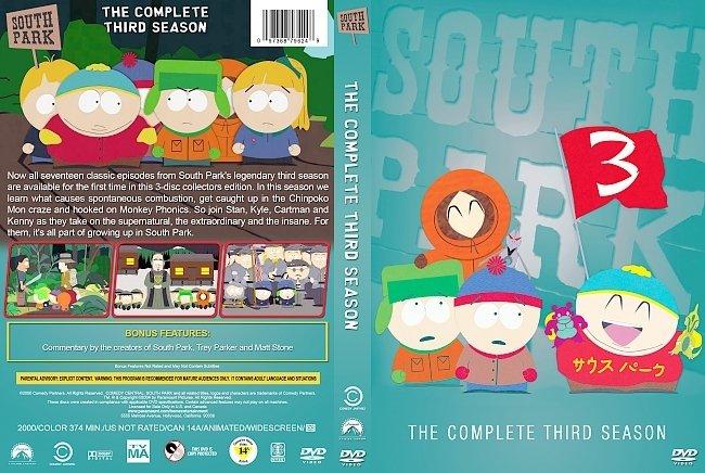 dvd cover South Park – Season 3 (1999) R1 Custom DVD Cover