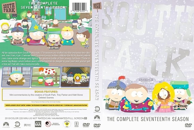 dvd cover South Park – Season 17 (2013) R1 Custom DVD Cover