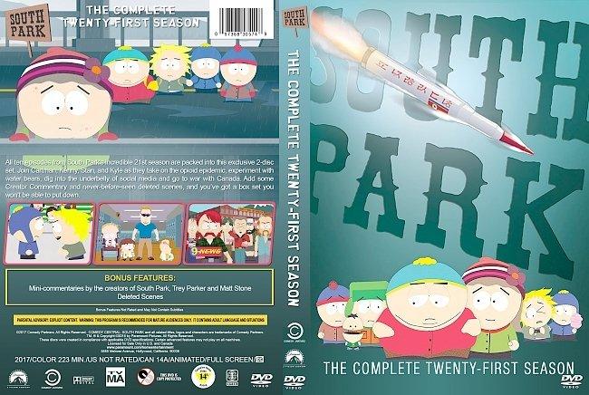dvd cover South Park – Season 21 (2017) R1 Custom DVD Cover