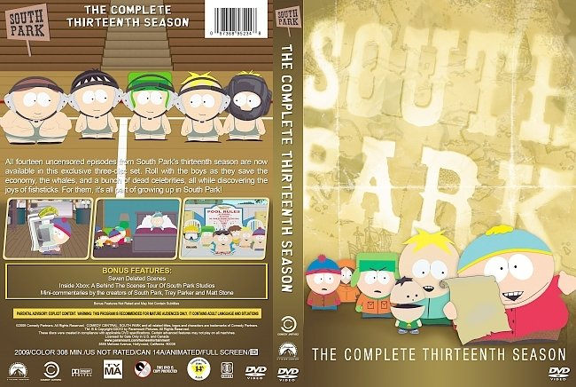 dvd cover South Park – Season 13 (2009) R1 Custom DVD Cover