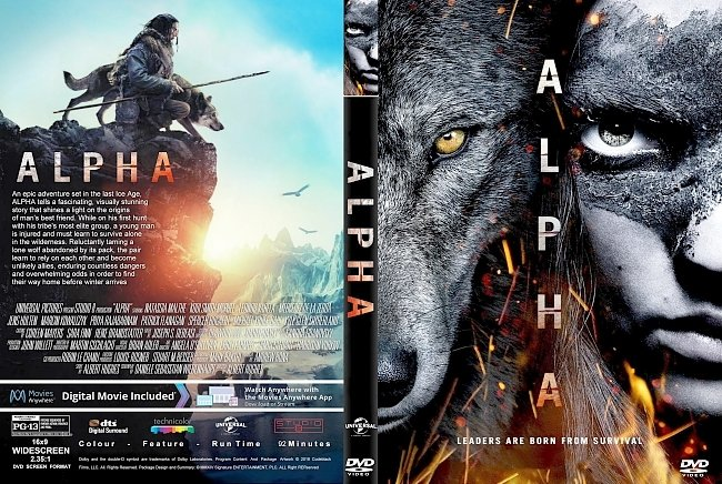 dvd cover Alpha (2018) R1 CUSTOM DVD Cover & Label