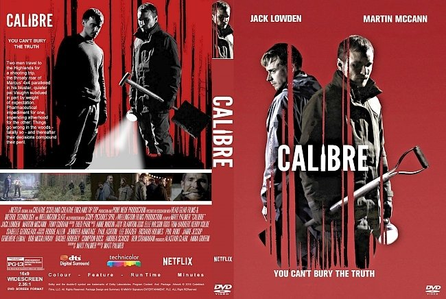 dvd cover Calibre (2018) R2 CUSTOM DVD Cover & Label