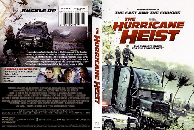 dvd cover The Hurricane Heist (2017) R1 DVD Cover