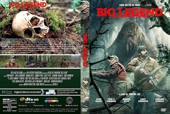 dvd cover Big Legend (2018) R1 CUSTOM DVD Cover & Label