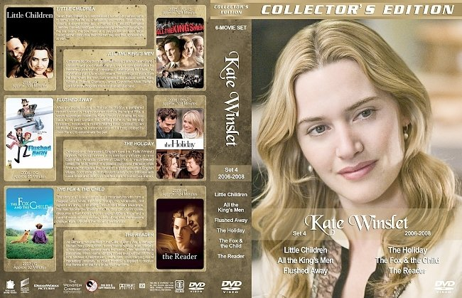 dvd cover Kate Winslet Filmography – Set 4 (2006-2008) R1 Custom DVD Covers