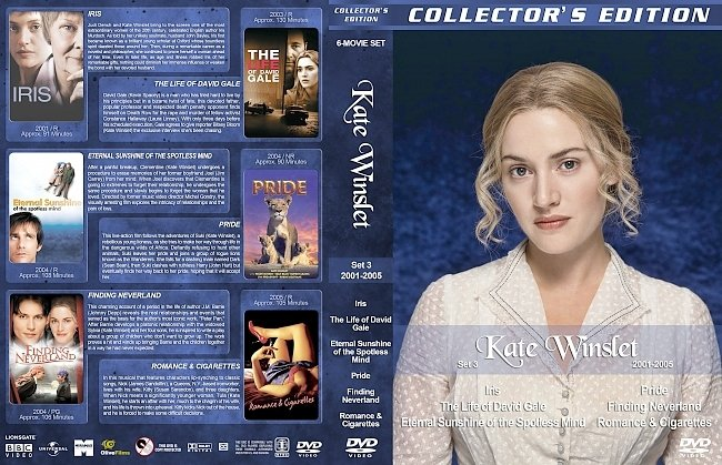 dvd cover Kate Winslet Filmography – Set 3 (2001-2005) R1 Custom DVD Covers