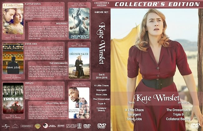 dvd cover Kate Winslet Filmography – Set 6 (2014-2016) R1 Custom DVD Covers