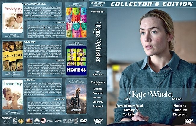 dvd cover Kate Winslet Filmography – Set 5 (2008-2014) R1 Custom DVD Covers