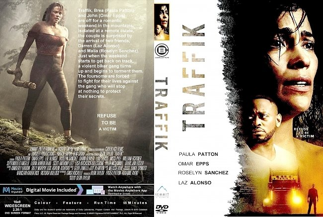 dvd cover Traffik (2018) R1 CUSTOM DVD Cover & Label